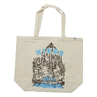 and wander(アンドワンダー)Canvas Tote Bag Off White キャンバストート