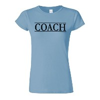 Coach Trainer Sport Funny Novelty Light Blue Women T Shirt Top-L