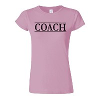 Coach Trainer Sport Funny Novelty Light Pink Women T Shirt Top-L