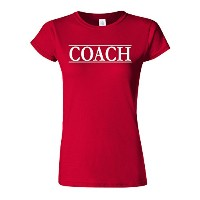 Coach Trainer Sport Funny Novelty Cherry Red Women T Shirt Top-L