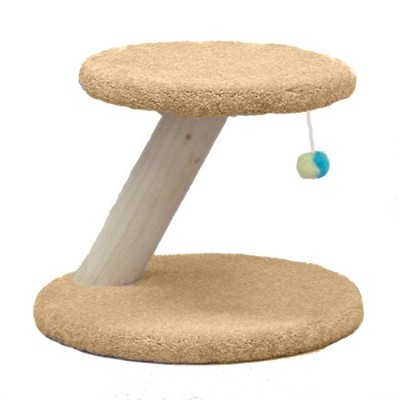 North American Pet Classy Kitty Rustic Cat Post Toy Natural Wood Scratcher 14in