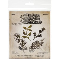 High Quality Holiday Greens Thinlits Dies by Tim Holtz, 4-Pack