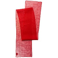 La Linen Dyed天然黄麻布テーブルランナー14 by、108インチ レッド TCBurlap14x108_Red