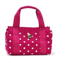 トミーヒルフィガー TOMMY HILFIGER ICONIC - BICOLORE DO トート RASPBERRY/WHITE ピンク CANVAS コットン 6928769-653