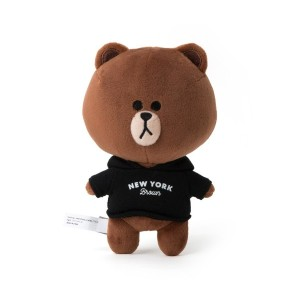Line Friends Store Hello NEW YORK Official Goods : New York Brown Doll (18cm)