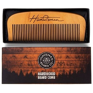 Hair and Beard Comb - Perfect for Balms and Oils - Anti-Static  No Snag Wooden Brush - Presented in...
