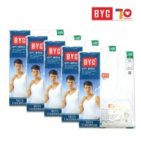 BYC Mens Tank top White cotton100% BYC2113 sleeveless shirts Innerwear 1Set (5ea)