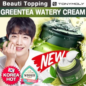 [Beauti_topping]{TONYMOLY}しっとり★緑茶水分クリーム★THE CHOK CHOK GREEN TEAM WATERY CREAM/+100ml
