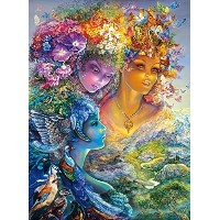 (Buffalo Games) Buffalo Games The Three Graces Glitter Edition by Josephine Wall Jigsaw Puzzle (1...