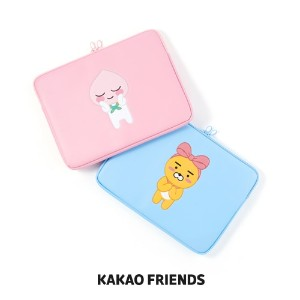 【Kakao friends】カカオフレンズPU型押ノートパソコンポーチ(13インチ)/PU tooling laptop pouch for 13-inch/2種・KAKAO FRIENDS正規品