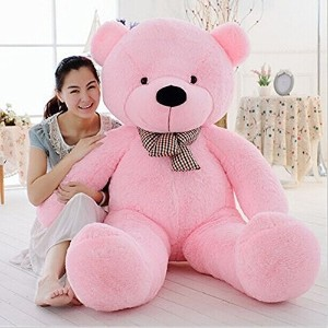 (くまの人形 巨大) MorisMos Giant Big Teddy Bear Cuddly Stuffed Animals Plush Toy Doll for Girlfriend..