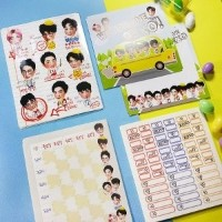 Exo goods - school set/k-pop goods/sticker/Postcard/Photo card