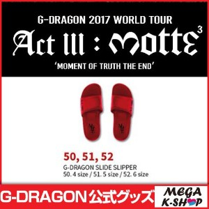 [MOTTE] G-DRAGON SLIDE SLIPPER[G-Dragon 2017 World Tour Act lll : motte MD][公式グッズ]