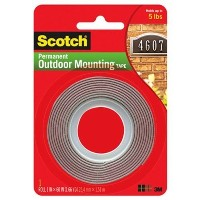 Scotch Exterior Mounting Tape 1-Inch by 60-Inch