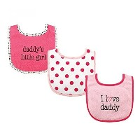 USA Luvable Friends 3 Piece Drooler Bibs with Fiber Filling for Girls, I love Daddy (送料無料)