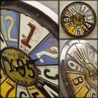 【Antique Emboss Clock】レトロ調♪ アンティークエンボス クロック/ NUMBER PLATE