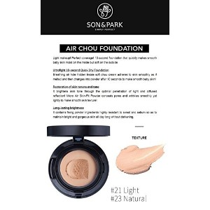 SONNPARK AIR chou foundation 18g (SPF45   PA++) / no.21 color / Health & Beauty / Personal make up t