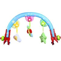 Baby Infant Stroller Bed Crib Hanging Rattles Mobile Toy Plush Arched Bell with Sound