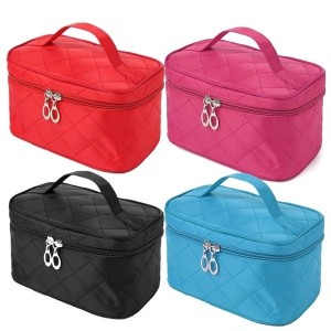 New High Quality Portable Type Bags Zipper Cosmetic Storage Make up Makeup Bag 4colors Handle Train...