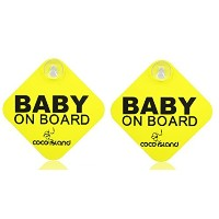 【cocoisland Baby On Board with Suction Disks Sign, (5x5) by CoCo Island】 n b01a5z7ufw