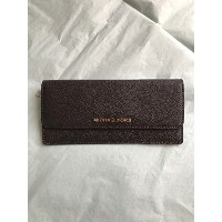 【MICHAEL KORS】 マイケルコース 財布 32F3GTVE7L JET SET TRAVEL FLAT WALLET SAFFIANO LEATHER COFFEE 長財布 ブラウン ロゴ...