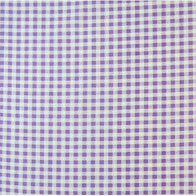 SheetWorld Fitted Square Playard Sheet 37.5 x 37.5 (Fits Joovy) - Lavender Gingham Check - Made In...