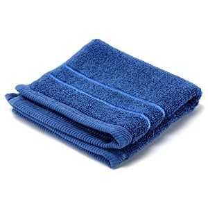 High Quality Platinum Collection 13-inch by 13-inch Washcloth, Stone Blue