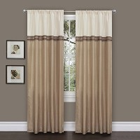 High Quality Terra Curtain Panel Pair, 54-Inch by 84-Inch, Beige/Ivory