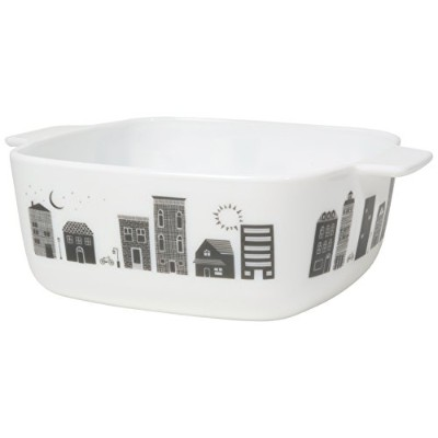 Now Designs modglassレトロSquare Baking Dish, Plantaデザイン マルチカラー L56004