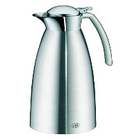 Alfi Gusto Top Therm真空断熱ステンレススチールThermal Carafe for Hot and Cold Beverages、0.6L、ステンレススチール 1.0...
