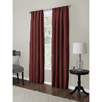 High Quality Soft Microfiber 2-Pack Window Panels, 40 inch X 84 inch, Red