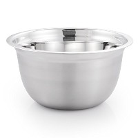 High Quality 718 Medium Brushed Stainless Steel Prep N Cook Euro Style Mixing Bowl, 3 quart,...