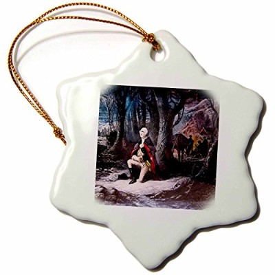 3drose Scenes from the Pastマジックランタンスライド – ジョージ・ワシントンPrays at Valley Forge – Ornaments 3 inch...