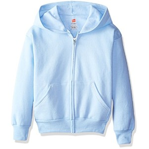 Hanes P480 Comfortblend Ecosmart Full-Zip Kids Hoodie Sweatshirt Size - Large - Light Blue