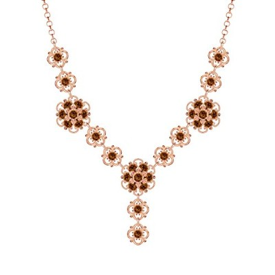 Lucia Costin .925 Silver, Brown Swarovski Crystal Necklace, Lovely Embellished