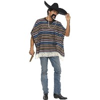 【Smiffys Men's Multi Authentic Looking Poncho - One Size】 n b004mnkc9u