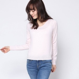 【SALE 70%OFF】ミーア プロデュースド バイ ルーミィーズ MIIA produced by Roomy's OUTLET 定番Vネックニット (オフホワイト)