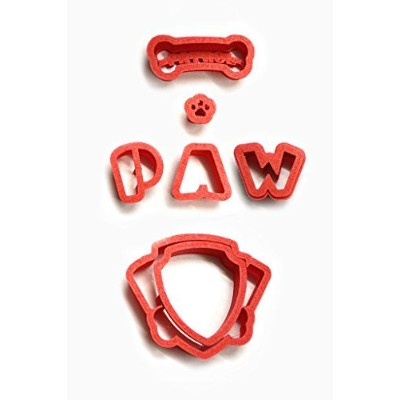 (10cm) - Paw Patrol Logo Cookie Cutter Set, choose 2, 3, 4, 5.5, 7, 9 or 28cm This cutter is a lot...