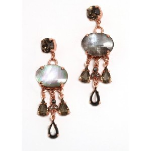 Amaro Jewelry Studio 'Release' Collection 24K Rose Gold Plated Beautiful Earrings Enhanced with...