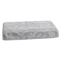 High Quality Trellis Sculpted Jacquard Bath Towel, Soft Silver