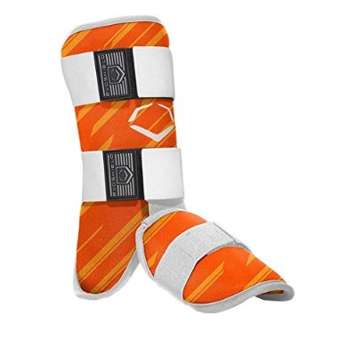 EVOSHIELD MLB BATTERS SPEED STRIPE LEG GUARD レッグ ガード すね当て (2046110) (ORANGE(843)) [並行輸入品]