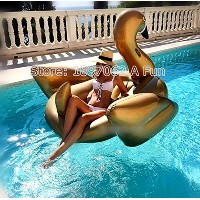 Giant Inflatable Golden SwanペガサスプールFloats、楽しいインフレータブル水泳フロートおもちゃwith Rapid大人と子供用バルブ