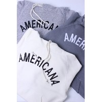 "【別注】Americana(アメリカーナ)HOOD PRINT SWEAT ""AMERICANA"" 3color 2018'S/S【Lady's】"