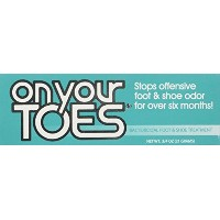 On Your Toes Foot Bactericide Powder - Eliminates Foot Odor for Six Months, 21 grams (One Pack) by...