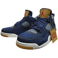 "NIKE (ナイキ ジョーダン) × LEVI'S (リーバイス) AIR JORDAN 4 RETRO LEVI'S NRG ""DENIM"" 【AO2571-401】"