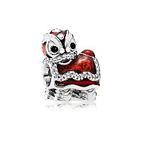 (パンドラ)PANDORA Chinese Lion Dance チャーム CHARM in Red [並行輸入品]