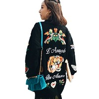 Central Eleven Long Sweaters Cardigans Women Long Sleeve Knitting Heavy Embroidery Tiger Head...