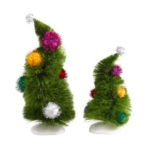 Department 56Grinch村Wonky Trees ( Set of 2)