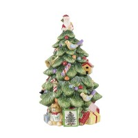 【SpodeクリスマスツリーSculptedクリスマスツリーShaped Covered Cookie Jar , 12-inch】 b005m4u8a6