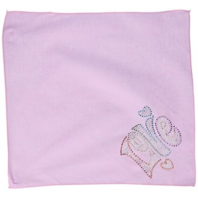 Technicolor Love Rhinestone Pet Bandana Light Pink Size Small